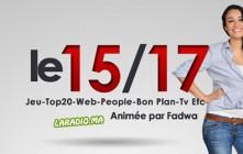 Le 15/17 avec Fadwa sur Radio Chada FM