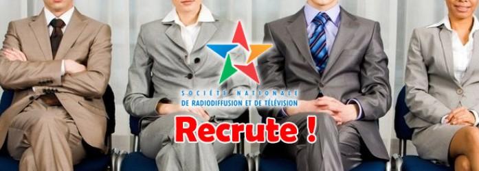 La Société Nationale de Radiodiffusion Recrute <br /> الشركة الوطنية للإذاعة والتلفزة: مباريات لتوظيف