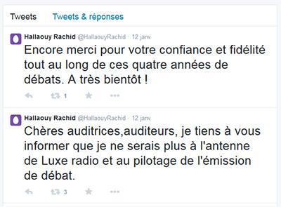 """Rachid  Hallaouy quitte """" Avec ou sans parure """" et """" Luxe radio """""""