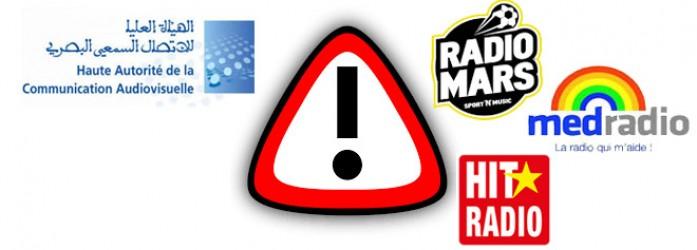 La HACA avertit Hit Radio, Med Radio  et Radio Mars à cause des dons <br /> الهاكا تحذر هيت راديو , ميد راديو و راديو مارس بسبب التبرعات