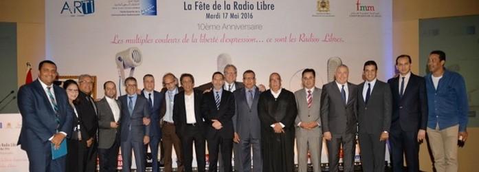 Résumé de le cérémonie ARTI qui fêtent les 10 ans de la radio libre au Maroc