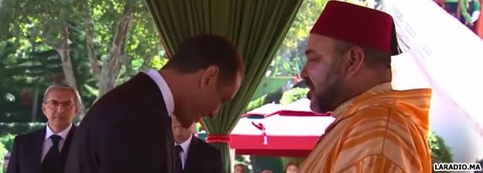 Sa Majesté le Mohammed VI décore l'animateur Mohamed Bousfiha