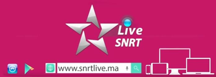 « SNRT LIVE » Le nouveau service de La SNRT